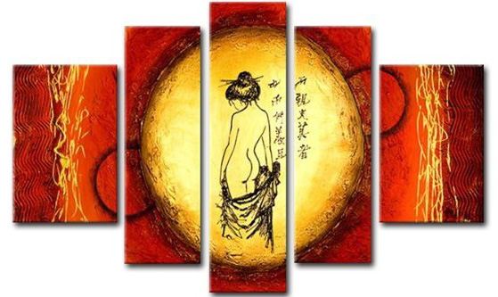 Asian Wall Art Canvas Oil Paintings For