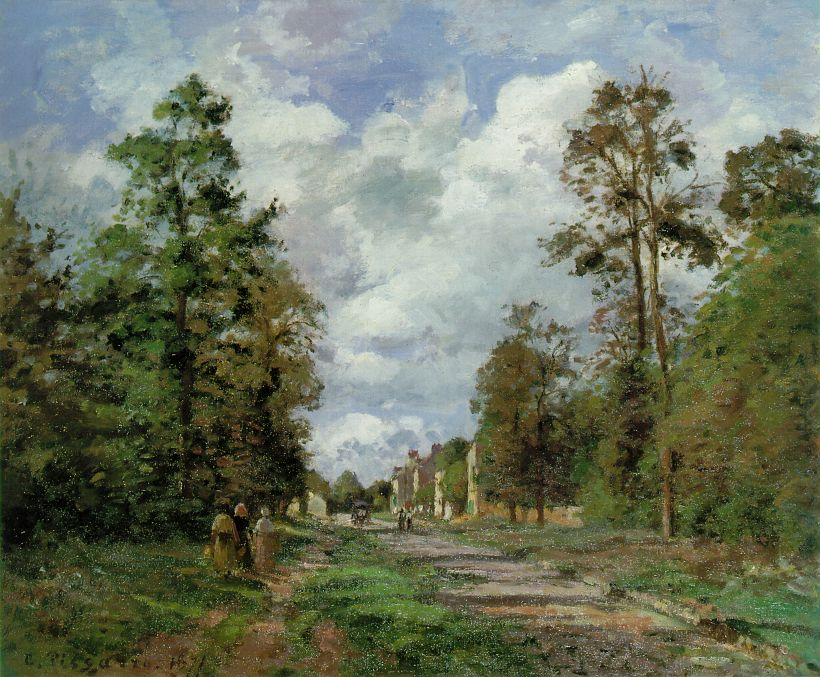 The Road to Louveciennes at the Outskirts of the Forest